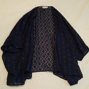 Blue textured kimono